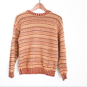 Vintage Rusty Colorful Striped Cozy Sweater